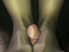 Fucking wife&rsquo_s trotters in crotchless pantyhose