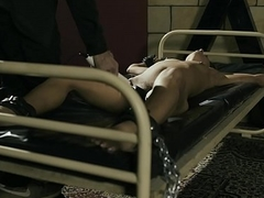 Tied girls plastic to orgasm