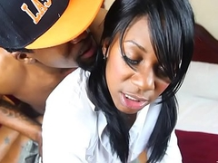 whoaboyz - young ebony schoolgirls gets her pussy pounded apart from big black cock