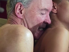 Old Man Dominated wits sexy hot babe prevalent aged young femdom hardcore fucking