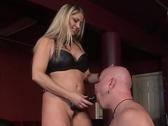 Super thick blonde getting plowed with respect to a S&m dungeon