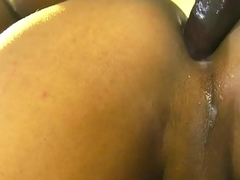 Baneful trans babe anally fucked doggystyle
