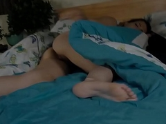 Sex-crazed Son Masturbates for StepDad up ahead Screwing