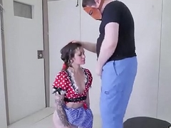Kinky kitten is brought in backdoor assylum for distressed therapy
