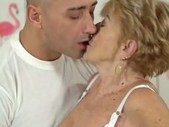 Nasty granny loves hard-core fuck - Malya and Mugur