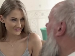 Teen beauty vs grey grandpa - Tiffany Tatum added to Albert