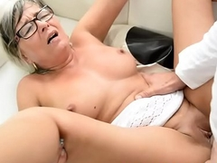 Busty spex gilf getting fucked hard by lover