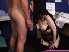 Alluring British babe receives jizz blasted