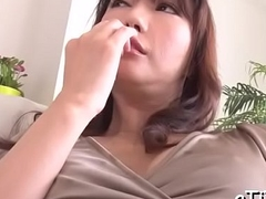 Ravishing fingering for large tits oriental
