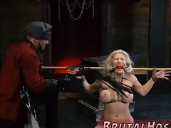 Huge detect brutal fuck and disreputable slave tease Big-breasted light-haired