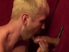 Black Gay Men Gloryhole Fuck With an increment of Handjob Video 28